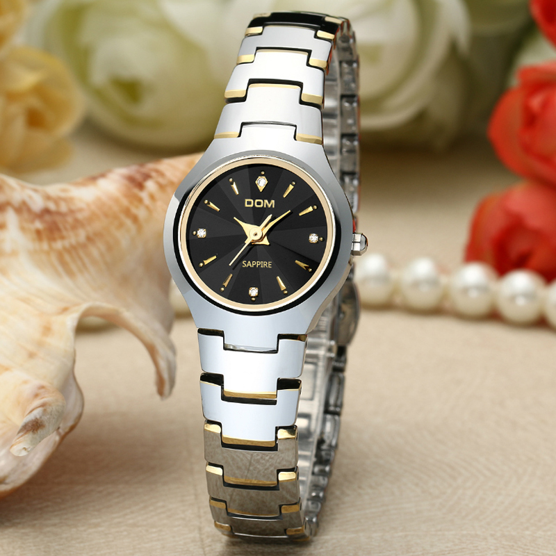 DOM 2016 New Women Watch Luxury Brand Top Quartz Watch Ladies Wristwatches Sapphire Fashion Dress Relojes Feminino Women Watch<br>