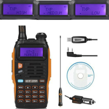 Baofeng GT-3TP MarkIII TP 1/4/8Watt High Power Dual-Band 2M/70cm Ham Two-way Radio Walkie Talkie + Programming Cable&CD