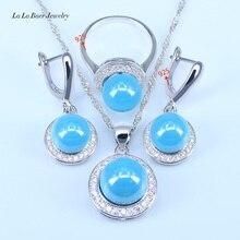 L & B Новый стиль пресноводных Ювелирные украшения с жемчужинами для Для женщин 925 марка серебро Цвет Ювелирные наборы для Для женщин кулон Ко...(China)