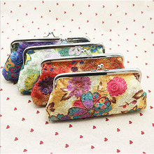 XIYUAN BRAND R chinese fashion vintage national flower ethnic embroidery embroidered canvas hand clutch bag purse wallet chain