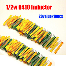 Free Shipping 20valuesX10pcs=200pcs 1/2W 0.5W 0410 Inductor Pack 1UH - 4.7MH Assorted Kit(China)