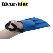 New Arrival 2 piece adult diving fins soft PE foot  training fins multi size swimming fins and flippers top sale #756