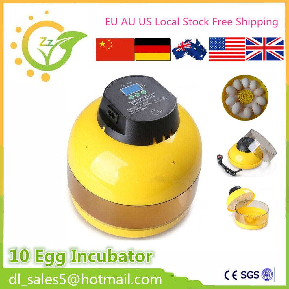 Automatic Eggs Incubator poultry 10 eggs brooder  machine hatcher hatching For the Chicken Ducks parrot<br>