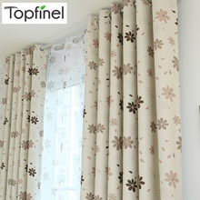 Top Finel 2016 Luxury Modern Shade Petal Blackout Curtains for Living Room the Bedroom Window Treatments Drapes Panel Ready Made(China)