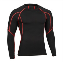 Quick drying Men Lycra Rash Guard UV Swimming long sleeve Swim wetsuit diving pant swimsuit for surfing kitesurf surf windsurf(China)