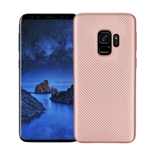 "For Samsung Galaxy S9 5.77"" Case Carbon Fiber Brushed TPU Rubber Silicone Mobile Phone Cases For S9 Slim Hybrid Armor Cover Case(China)"