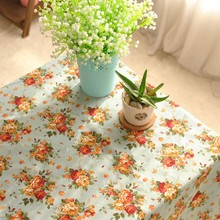 Pastoral Style Floral Rose Cotton And Linen Tablecloth Home Textile Party Rectangular Table Cover Square Table Cloth 1048ZB(China)
