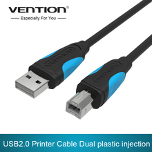 VENTION 1m/1.5m/2m/3m VAS-A16 Male To Male USB 2.0 High Speed Square Port Sync Data Printer Mobile Hard Disk Box Data Cable