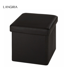 LANGRIA Modern New Faux Leather Folding Storage Ottoman Cube Footrest Children Stool Seat US Otto Fold Upholstered Beauty Stools