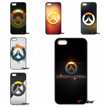 game overwatch Logo fashion cell phone case Coque For iPhone 4 4S 5 5C SE 6 6S 7 Plus Galaxy J5 J3 A5 A3 2016 S5 S7 S6 Edge