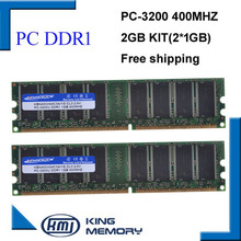 KEMBONA Brand New Ram DDR1 2GB kit(2*DDR1 1GB) 400MHZ PC3200 LONGDIMM support all motherboard lifetime warranty free shipping(China)