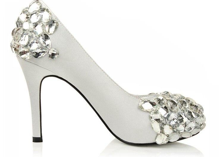 Luxury Satin Formal Dress Shoes Sparkling wedding shoes the bride Shoes Crystal beads wedding shoe platform high heel pumps<br><br>Aliexpress