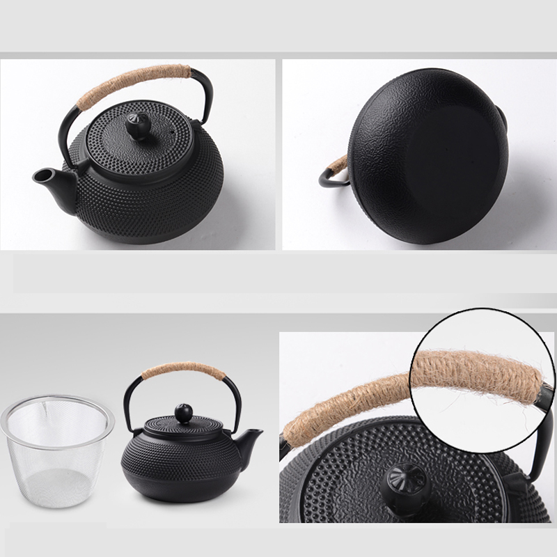Southern Cast iron kettle old iron pot shells tea pots health boiler scale iron pot 800ml 3