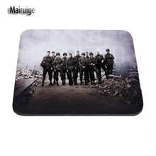 Band Of Brothers Hot Sale Anti-Slip Cool Mouse Pad Soft for computers rectangular Mousepad Desktop Pad Mouse Mat for Optal