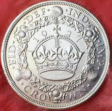 United Kingdom Coins 1927 CROWN Copy Coin Copper Silver Plated Art Collection Metal Crafts