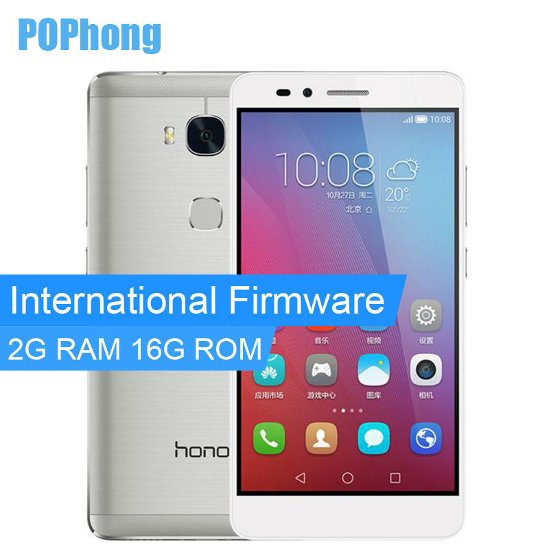 International Firmware Huawei Honor 5X Play 2GB RAM 16GB ROM LTE Cell Phone 5.5''Octa Core Snapdragon 615 64 bit Fingerprint(China (Mainland))