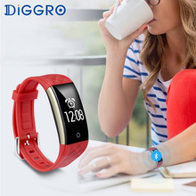 Diggro S2 Bluetooth Smart Bracelet Heart Rate Monitor IP67 Sport Fitness Tracker Wristband For Android IOS Phone(China)