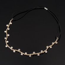 Free Shipping Hair Accessories crystal chain charms head bands women jewelry Wedding bridal hair jewelry H008(China)