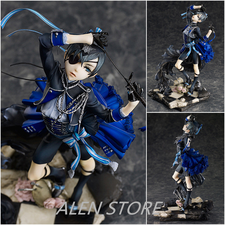 ALEN Black Butler Kuroshitsuji Cie Anime Action Figure PVC New Collection figures toys Collection for Christmas gift 22cm<br>