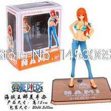 Free Shipping Japanese Anime Cartoon Two Years Later One Piece Nami Action Figures PVC Toys Doll Model Collection  #030