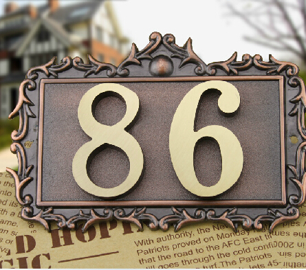 Two Digits House number Pure copper word  Household villa house Archaize street number,gate number<br><br>Aliexpress