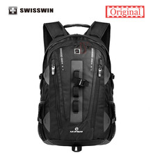 Swisswin Men Travel Backpack SWE9972 32L Large Capacity Backpack Male Swissgear 15.6 Computer Backpack For Business Carry On Bag