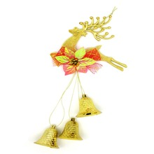 Cheap For Xmas Deer  Hanging Decorations Bells Christmas Tree Baubles Home Decoration