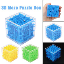 3D Mini Speed Cube Maze Magic Cube Puzzle Puzzle Game Cubos Magicos Learning Toys Labyrinth Rolling Ball Toys For Children Adult(China)