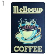 20X30CM Hot Coffe Painting Vintage Poster Metal Tin Signs Advertising Cafe Shop Bar Home Kitchen Wall Decor Plaque 15(China)