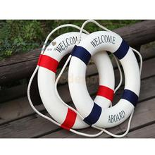 "13.8"" Welcome Nautical Wall Decor Ship Boat Ring Life Buoy Preserver 2 Colors"