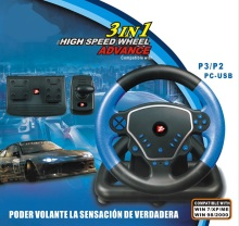 3 in1 Game Racing Wheels Steering Wheels for PC For PS2 For PS3