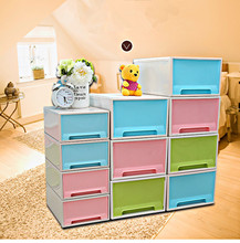 Creative Thick single-layer free combination lockers drawer Type storage cabinet storage box makeup organizer plastic box