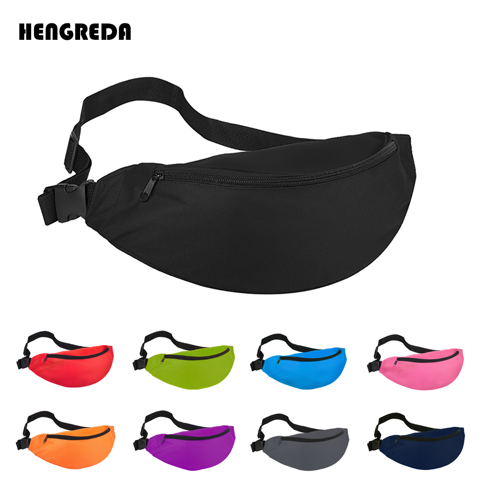 2018 Fanny Pack for Women Men Waist Bag Colorful Unisex Waistbag Belt Bag Zipper Pouch Packs 110cm Belt Length Factory OEM(China)