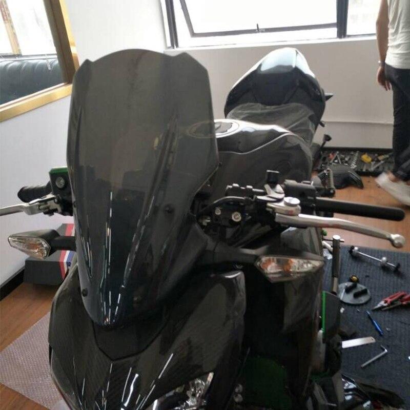 KEMiMOTO For Kawasaki Z900 2017 Z 900 Windscreen Windshield Wind Screen Headlight Cover For Kawasaki Z900 2017 Motorcycle Smoke<br>