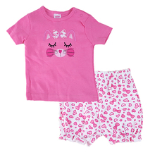 2017 2pcs Summer Baby Girl Clothing Sets Cotton Cartoon Newborn Shirt Shorts Cheap Baby Girl Clothes Suit For 0-24M Bebes