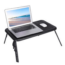 New Portable Folding Laptop Desk Adjustable Computer Table Stand Foldable Table with Cooling Fan Tray Oversea Warehouse Shipping