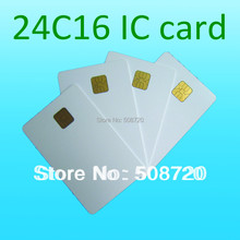 High Quality ATMEL 24c16 ISO 7816 Contact Smart Card Phone IC Card Medical Insurance Card(China)