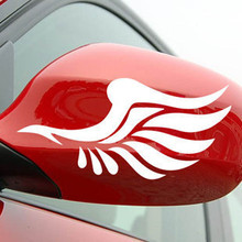 Reflective personalized car stickers reflective stickers fashion mirror a pair of wings car styling for Toyota Highlander Camry