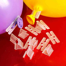 "50PCS/Lot Useful ""V"" & ""K"" Shape Balloons Sealing Clip Ballon Buttons Clips Wedding/Birthday/Christmas Party Decoration Supplies"
