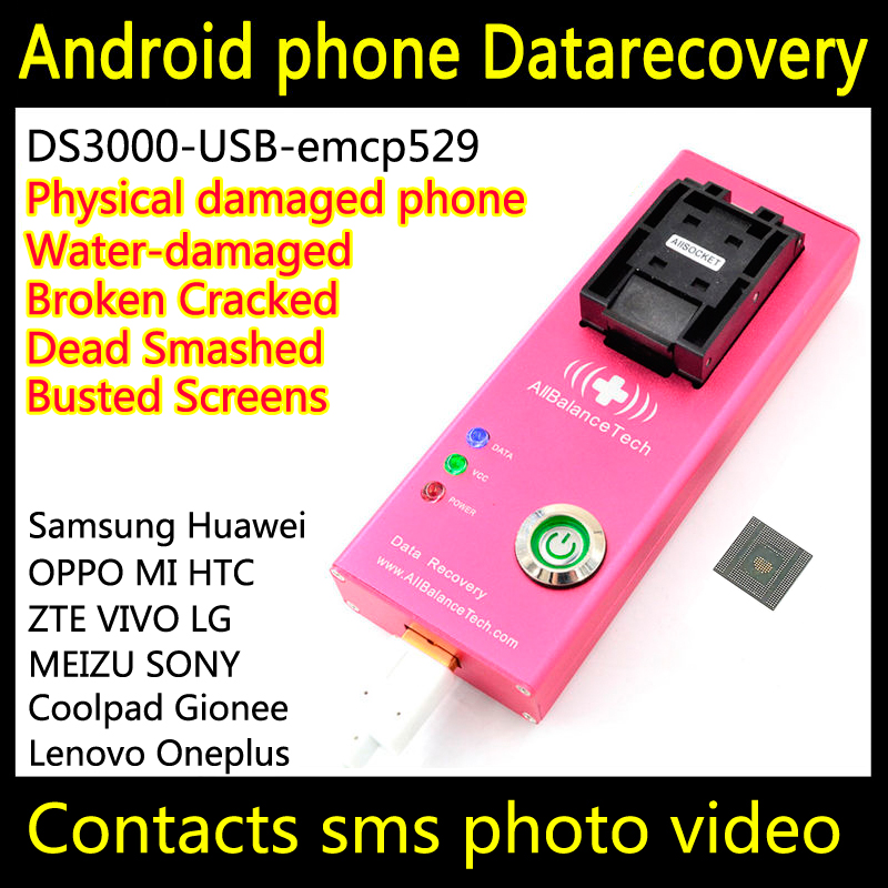 Data recovery android phone DS3000-USB3.0-emcp529 tool yotaphone Restore Retrieve contacts Sms Broken water-damaged Dead