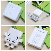 Go2linK 20W 4 USB Ports Travel Home Wall Charger for Iphone 6 6s 7 Ipad for Samsung huawei xiaomi lg US EU Plug with Phone Stand