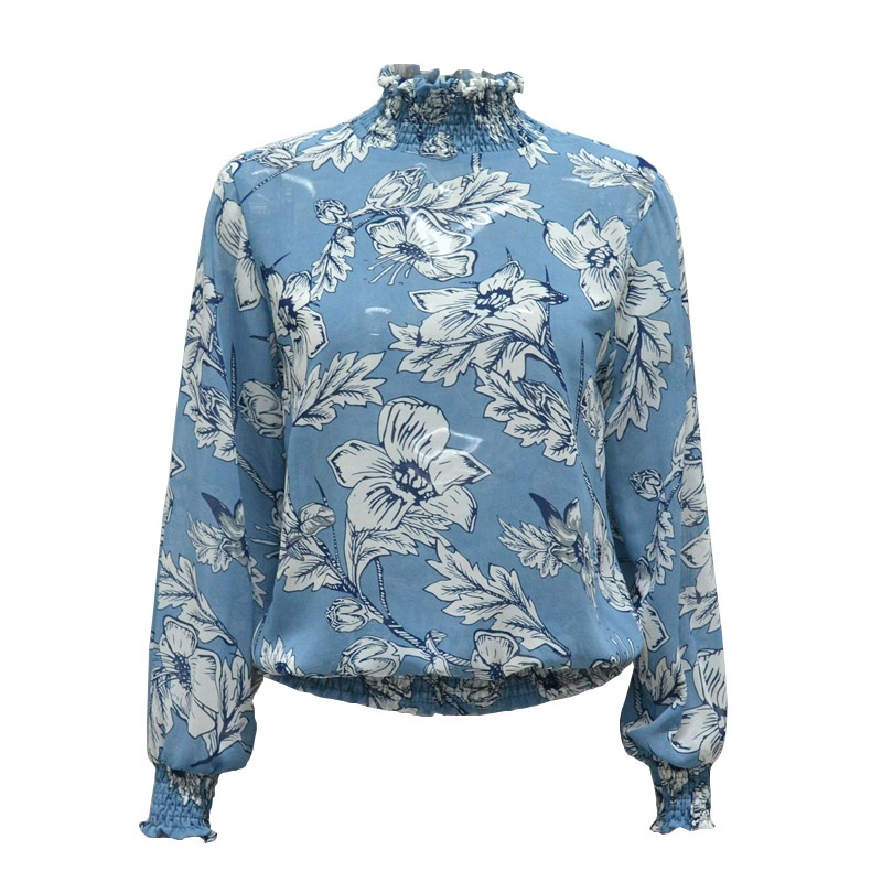 LASPERAL Chiffon Shirt Women Long Sleeve Blouse Top Fashion Vintage Floral Print Blouse Shirt chemise blusa feminina Top 2018 10