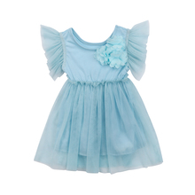 Baby Fancy Dress Party Lace Tulle Flower Girl Summer Dresses Sundress Girls Wedding Clothes(China)