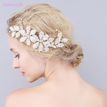 Jonnafe Beaded Pearls Hair Jewelry Gold Wedding Comb Hair Accessories Fashion Bridal Headpiece Women Hairpiece Handmade