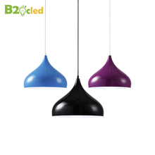 E27 LED modern simple aluminum lamp hanging room lamp restaurant lamp 1m pendant light Simple atmosphere Indoor decorative lamp