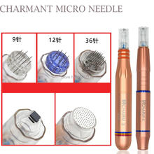 Mix sale CHARMANT micro needle system scar/pores/ stretch mark removal 9/12/36/nano permanent makeup machine tattoo needle(China)