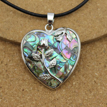 1PC Heart Abalone Shell Necklace Pendants In Jewelry Making DIY Fittings F1510