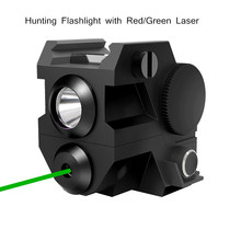 Hunting Tactical Flashlight Green/Red Laser LED Flashlight Sights Accessories Handgun Rifle Hunting Weapons 20mm Rails Mount