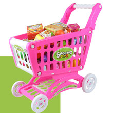Shopping Cart Fruit Vegetables Simulation Set Kids Children Market Pretend(China)