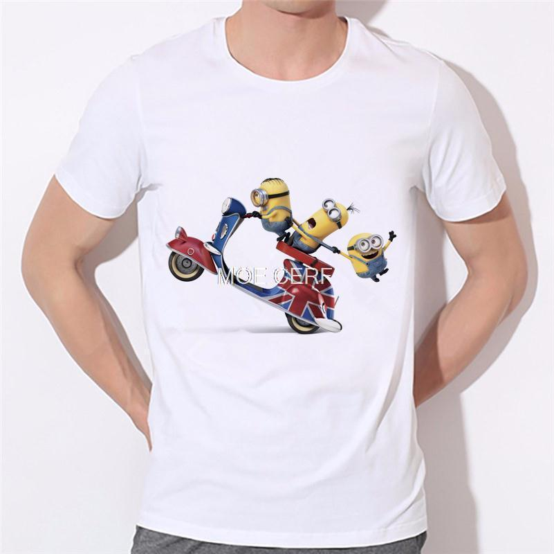 2019 men's fashion funny design simple one eye minion printed t-shirt cute tee shirts Hipster new arrivals O-neck cool top 18-1#